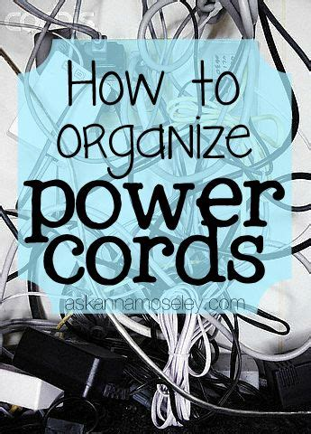 organize cords on 1000 images about top organizing bloggers on pinterest