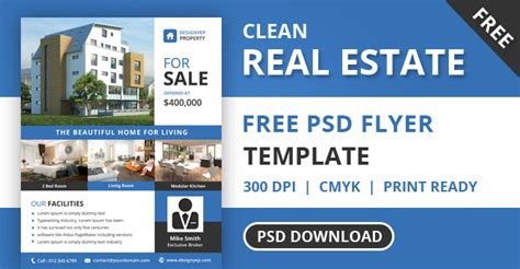 Free Real Estate Flyer Psd Template Designyep