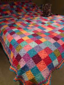 thrifty mummyhen ta dah square patchwork blanket