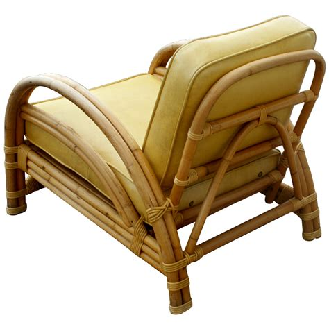 bamboo recliner chair vintage paul frankl bamboo art deco chair omero home