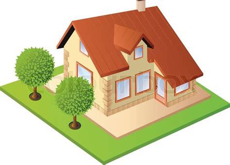 isometric house stock vector colourbox