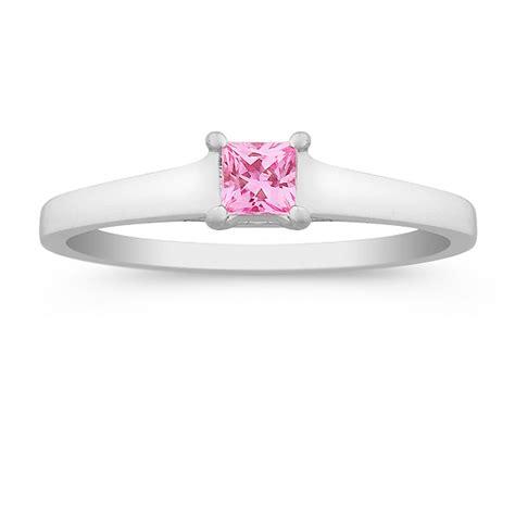 princess cut pink sapphire ring at shane co