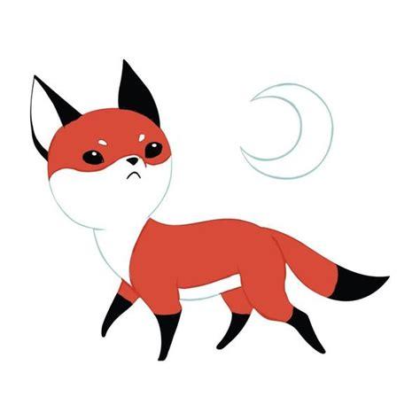 Wall Mural Nursery fox anime art wall decal moon fox by indre bankauskaite