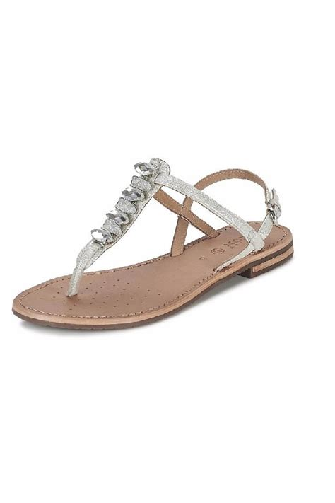 Silver Bowknot Flat Sandal Shoes Import geox silver sandal from canada by modern sole shoptiques