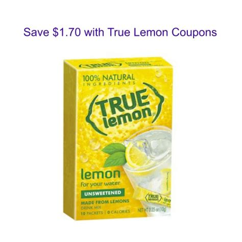Free Product Sles True Lemon And True Lime by Save 1 70 With True Lemon Coupons Myfreeproductsles