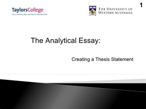 creating thesis creating a thesis statement