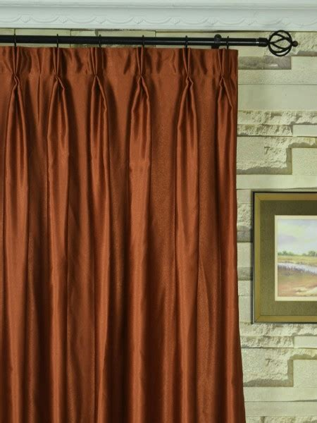 pinch pleat drapes 120 x 84 extra wide swan brown solid double pinch pleat curtains