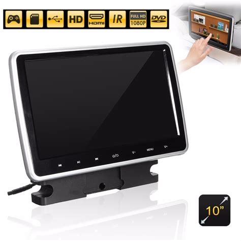 Lcd Portable 10 inch active hd touch headrest monitor portable car dvd player handle lcd alex nld
