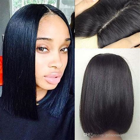 human hair wigs with scalp part down middle curly 2017 silk base short bob human hair wigs for black women