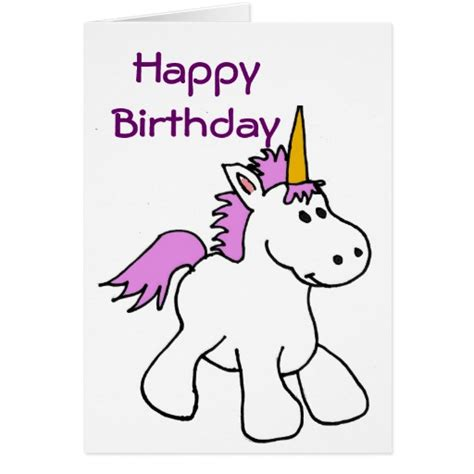 printable birthday cards unicorn bk unicorn birthday card zazzle