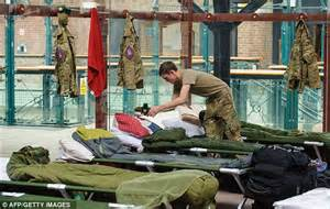 military bed making olympics 2012 soldiers protecting games are having to
