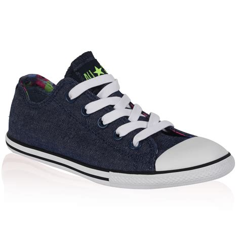 Converse Low Denim womens converse all slim ox denim blue low lace