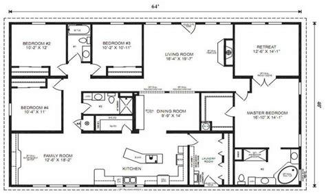 5 bedroom modular homes floor plans 4 bedroom ranch house plans 4 bedroom modular home floor