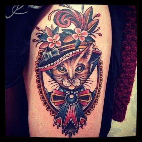 traditional cat tattoo matt houston tattooist in vancouver gastown