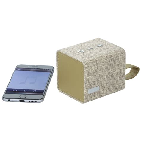 Cloth Bluetooth Speaker 4imprint fortune fabric bluetooth speaker 139817 imprinted with your logo