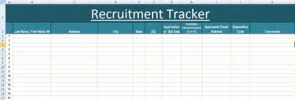 Recruitment Tracker Template by Recruitment Tracker Excel Template Xls Microsoft Excel