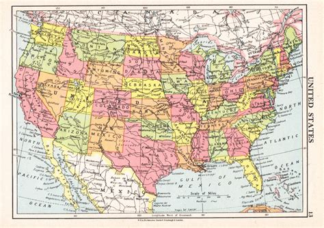 map usa travel us map 1950s vintage united states map us wall map travel map