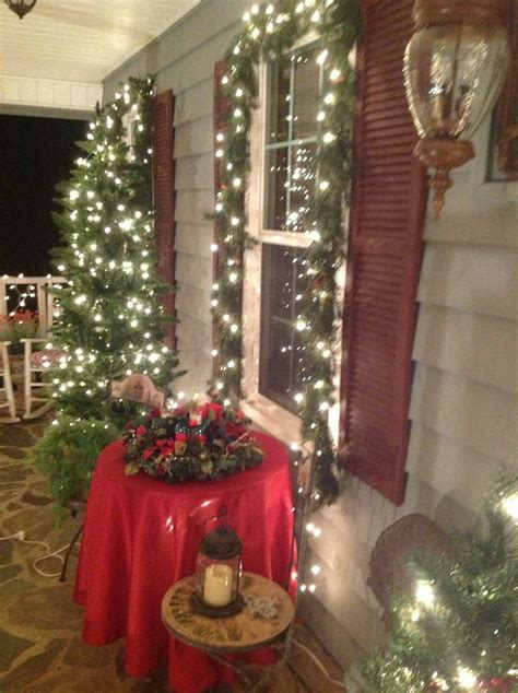 front porch decorating christmas christmas window