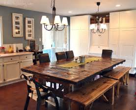 Homemade reclaimed wood dining table benches simple on purpose