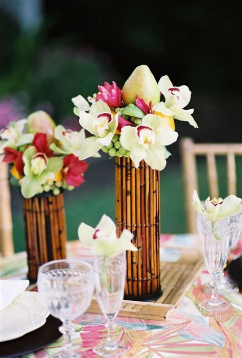 The 25  best Tropical centerpieces ideas on Pinterest