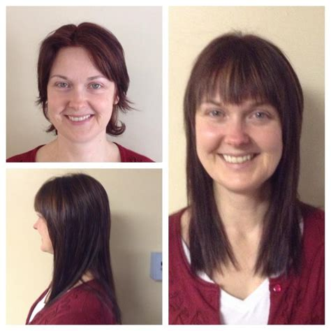 before and after di biase hair extensions thin hair to now offering hair extensions boothbay register