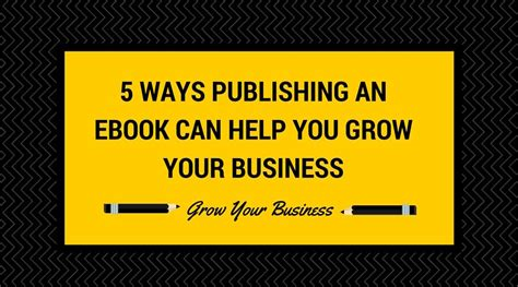money isn t the problem you are ebook 5 ways publishing an ebook can grow your business