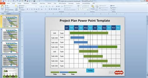 powerpoint gantt chart template free free project plan powerpoint template