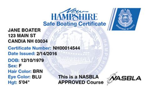 boating license in maine new hshire boating license boat safety course boat ed 174