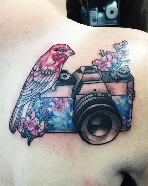 finch tattoo chronic ink toronto watercolour finch and