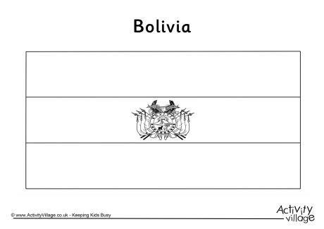 coloring page venezuela flag bolivia flag colouring page