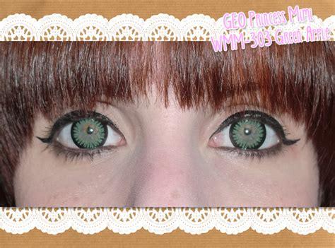 geo princess mimi apple green wmm 303 circle lenses review geo princess mimi wmm 303 green apple on blue