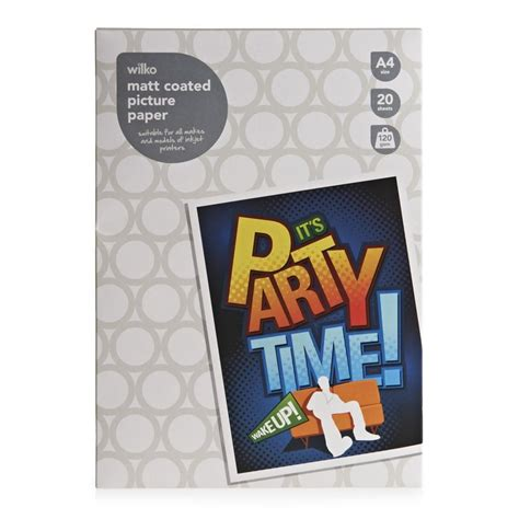Glossy Photo Paper 120gsm A4 Coral 1 wilko photo paper 120gsm 170gsm 250gsm a4 6x4 glossy or
