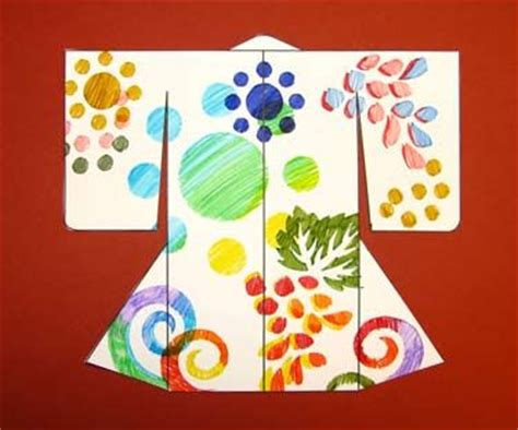 printable japanese paper crafts make a katazome kimono activity asian art museum