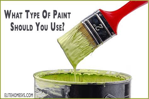 what type of paint should you use around your house