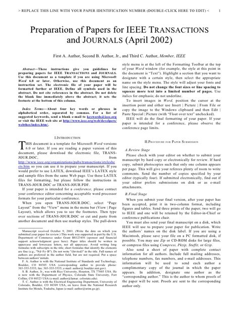 ieee journal template word formato ieee