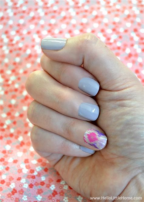 easy nail art masking tape easy washi tape nail art hello little home