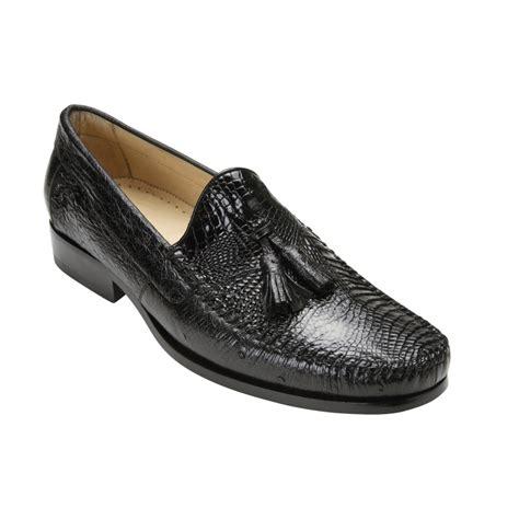 tassel loafers belvedere bari caimain ostrich tassel loafers black