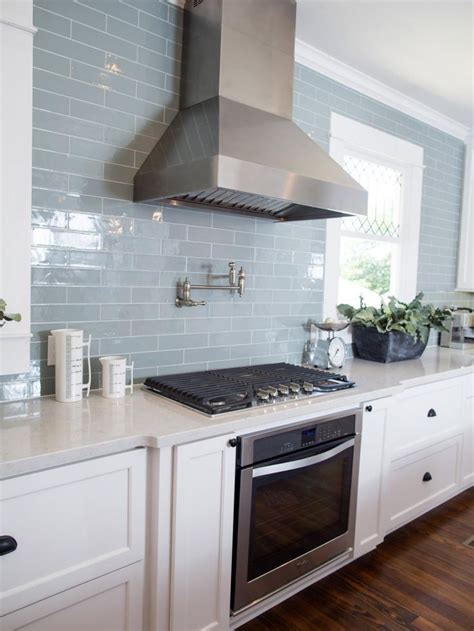 blue kitchen backsplash light blue subway tile backsplash home designs