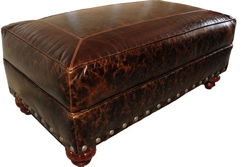 Western Ottomans Maverick Western Leather Ottoman Western Ottomans Free Shipping