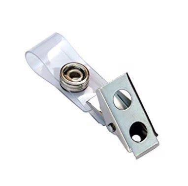 badge clip de metal badge with pvc straps 100 pack import