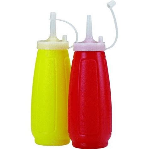 2in1 Set Jellow Mustard ketchup mustard dispenser squeeze bottle set condiment with cap cover yellow ebay