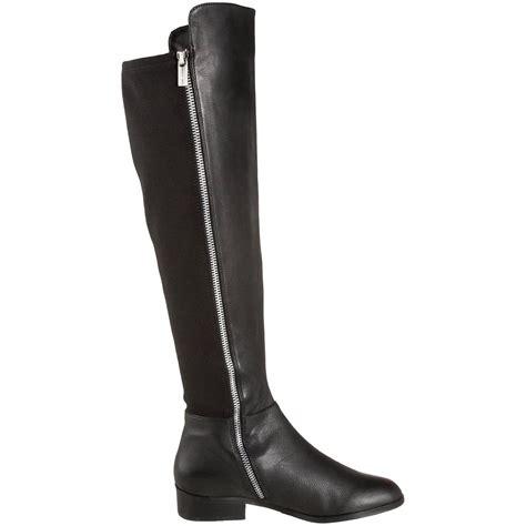Flat Boots Lky 503 1 michael kors bromley flat leather elastic black boot