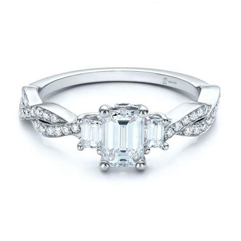 custom emerald cut engagement ring 101440