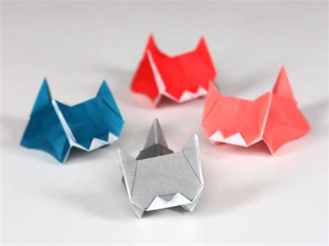Easy Origami Cat - cuteness alert more kitten origami how about orange