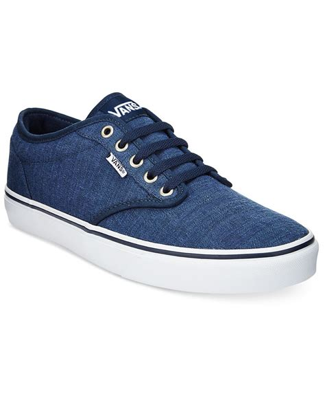 vans sneakers mens vans s atwood low top sneakers in blue for lyst