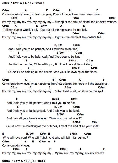 ukulele tutorial skinny love skinny love chords birdy ukulele