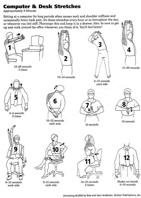 desk exercises at work computer and office desk stretches now all i need is a
