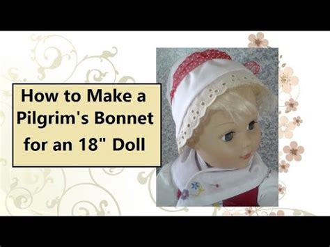 How To Make A Pilgrim Hat Out Of Paper - how to make a pilgrim s bonnet out of cloth