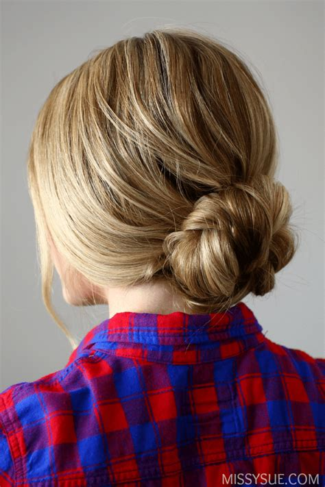 easy and quick bun hairstyles quick and easy braided bun