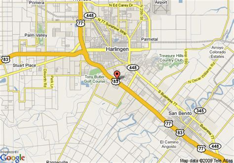 map of harlingen texas harlingen